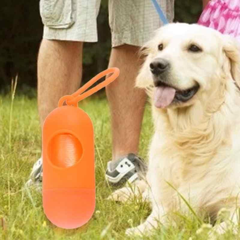 العملي كلب حاوية أكياس تبرّز الحيوانات الأليفة النفايات القمامة حامل موزعات + أكياس نفايات مجموعة في الهواء الطلق الحيوانات الأليفة الكلاب القمامة مواد التنظيف