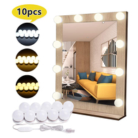 HOLLYWOOD style LED 5v makeup mirror light three color adjustable light bulb is suitable for dressing room of dressing table
