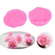 3d rosa flor pétalas em relevo molde de silicone relevo fondant bolo ferramentas de decoração de chocolate gumpaste açúcar moldes de argila de doces