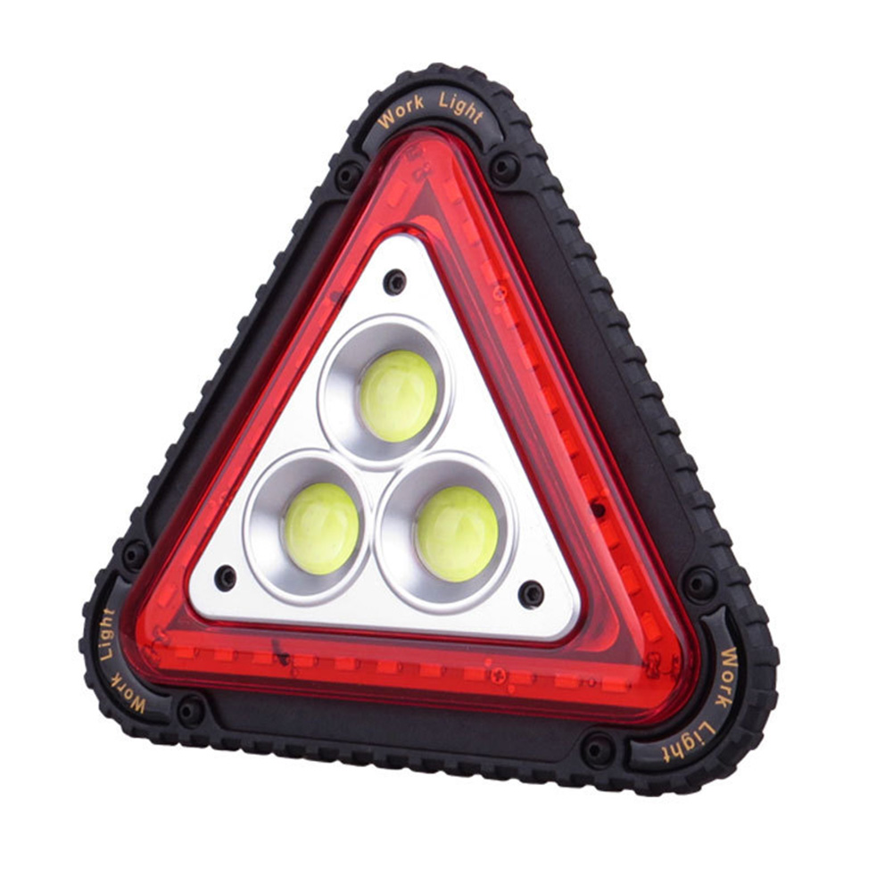 LED Working Lamp Portable Waterproof Triangular Warning Light For Camping Hiking Emergency