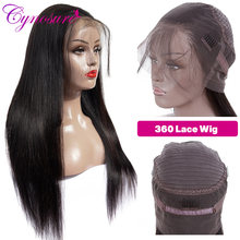 Cynosure 360 Lace Frontal Wig Pre Plucked with Baby Hair For Black Women Remy Straight Human Hair Wigs(China)