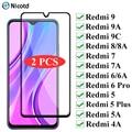 2 шт полное покрытие закаленное защитное стекло для экрана для Xiaomi Redmi 9 8 7 6 5 защитное стекло пленка для Redmi 9A 9C 8A 7A 6A 5A 4A