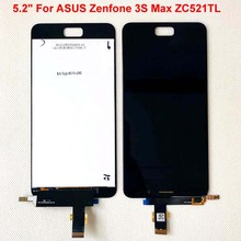 "Originele Beste Aaa 5.2 ""Voor Asus Zenfone 3S Max ZC521TL Lcd Touch Screen Digitizer Vervanging ZC521TL Lcd X00GD peg Asus Display"