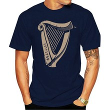2021 Leisure Fashion 100% Cotton T-shirtOfficial GUINNESS Distressed Harp Estd 1759 Ireland Quality Gift