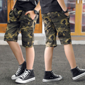 DIIMUU летние модные детские шорты для мальчиков Одежда для детей мальчиков повседневные шорты подростковые камуфляжные комбинезоны с эласти...