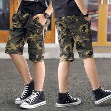 Diimuu verão moda crianças meninos calças curtas roupas criança menino casual shorts adolescentes camuflagem elástico na cintura macacão roupas