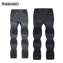 Fecozy Softshell брюки для рыбалки мужские зимние походные водонепроницаемые брюки женские флисовые треккинговые брюки для альпинизма лыжного спорта
