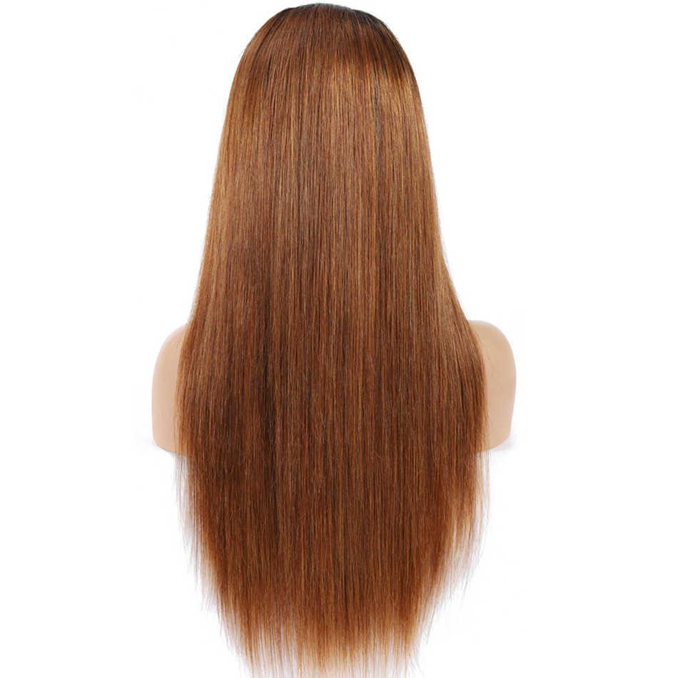 1B 30 Omber ludzki włos peruka miód blond prosto koronki przodu ludzkich włosów peruki z dziecięcymi włosami malezyjski Remy 13x4 koronki przodu peruki