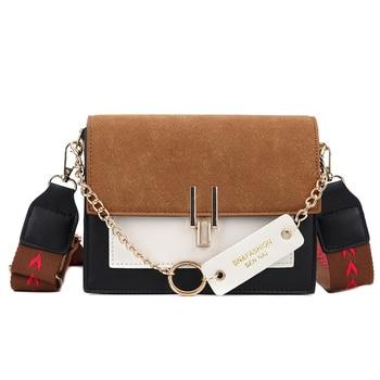 2020 new mini handbags women fashion ins ultra fire retro wide shoulder strap messenger bag purse simple style Crossbody Bags 9