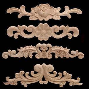 Decorative-Accessories Decal Furniture Wood Carved European Heart-Flower-Spot And Door
