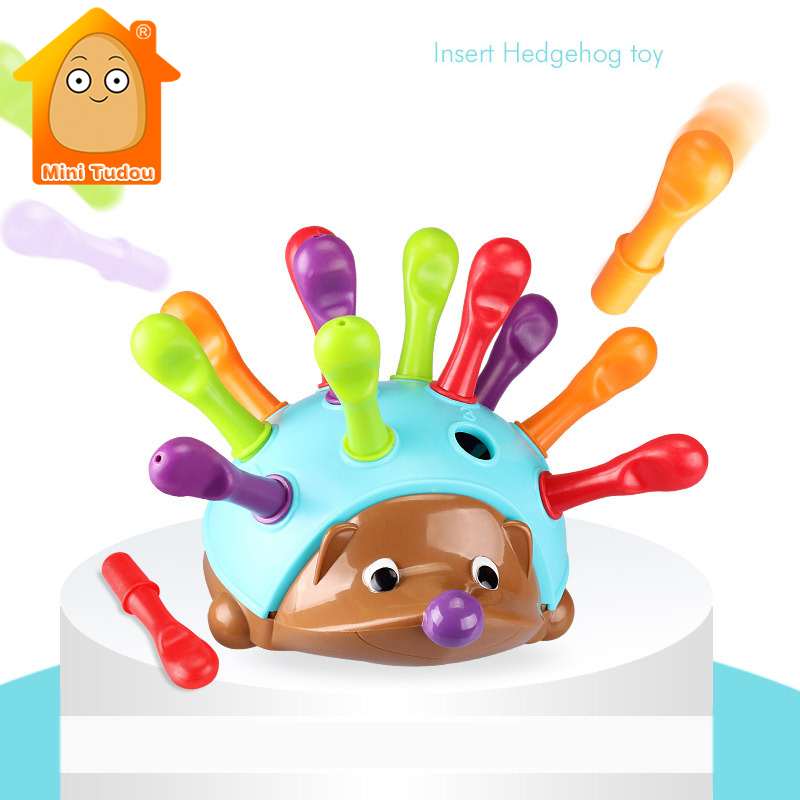 Baby Toys 13 24 Months Hedgehog Sorter Color Stacking Toy Training Matching Pair Game Math Early Educational Interactive Toys