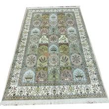 Seeykeep™ 5x8ft Rectangle Timeless Classic Garden Pure Silk Handknotted Orintal Persian Rug-SK3036068