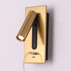 Hartisan Usb Led Wandlamp Leeslamp Voor Slaapkamer Hoofdeinde Night Boek Lamp Nachtkastje Schakelaar 3W Spot Led licht Indoor