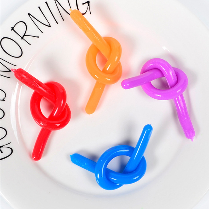 Decompression Toy Rope Relief-Toys Stretch-String Fidget Autism Noodle Rubber TPR Anti-Stress img4