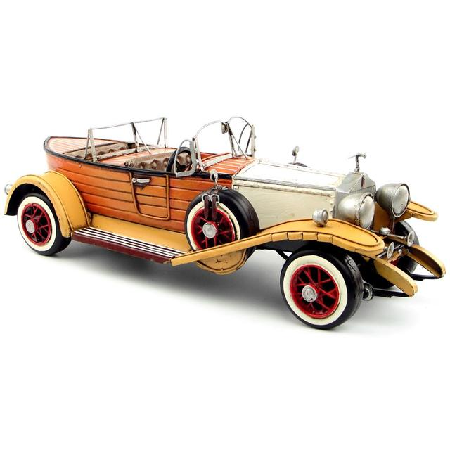 Antique classical British car model retro vintage wrought  metal crafts for home/pub/cafe decoration or birthday gift