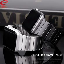 цена на Strap For Apple watch band 44 mm 40mm iwatch band 42mm 38mm Stainless Steel metal Butterfly buckle bracelet apple watch 5 4 3 2