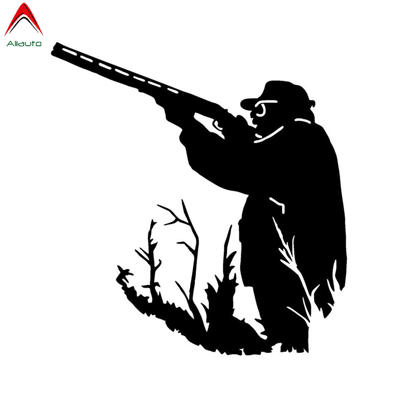 Aliauto Fashion Car Sticker Mounted Hunter Hunting Auto Accessories Funny Vinyl Decal Waterproof Sunscreen,13cm*12cm