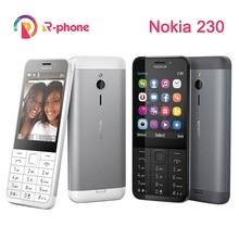 NOKIA 230 Ds Original Single GSM 2mp Refurbished Unlocked Phone Russian-Keyboard Hebrew