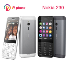 원래 노키아 230 단일 듀얼 Sim GSM 잠금 해제 전화 좋은 품질 단장 한 휴대 전화 및 히브리어 아랍어 러시아어 키보드