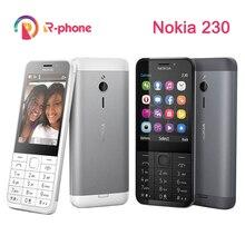 Oryginalny telefon NOKIA 230 Single Dual Sim GSM odblokowany telefon dobrej jakości odnowiony telefon komórkowy i hebrajski arabski rosyjski klawiatura