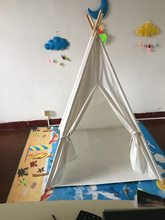 Yijia personalizable Pure White tipi Tent para niños Princess Game House lona interior Toy House(China)