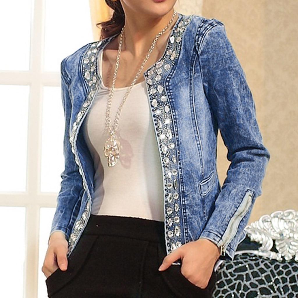 H2edc0ca75bf64ddda2742836160798b7k JAYCOSIN Women's Coat New Fashion 2019 Denim Coat Ladies Casual Jacket Outwear Jeans Overcoat female Turn-down Collar jackets