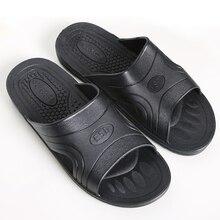 Zapatillas antideslizantes con suela blanda para el verano, pantuflas antiestáticas y antideslizantes de color negro, para limpieza de habitación, sin polvo, para taller