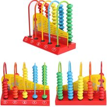 цены Wooden Abacus for Kids Math Learning Educational Toys Maths Counting Beads Toddlers Preschool Kindergarten Toy