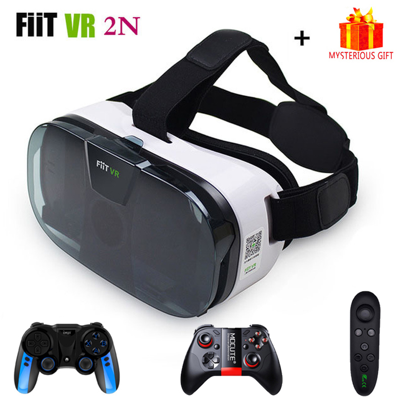 Fiit VR 2N 3 D Casque Viar 3D Glasses Virtual Reality Headset Helmet Goggle Lenses for Phone Smartphone Mobile Gaming Bundle Kit