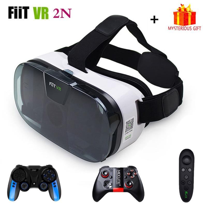 Fiit VR 2N 3 D Casque Viar 3D Glasses Virtual Reality Headset Helmet Goggle Lenses for Phone Smartphone Mobile Gaming Bundle Kit