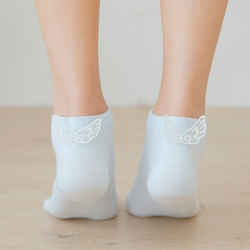 Kawaii Angel Wings  Women Socks Fashion Ankle Funny Socks Women Cotton Candy Color