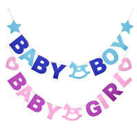 Baby Shower Decoration Non-Woven Fabric Letter Banner Party Garland Baby Boy Girl Foil Balloon 1st Birthday Event Party Decor