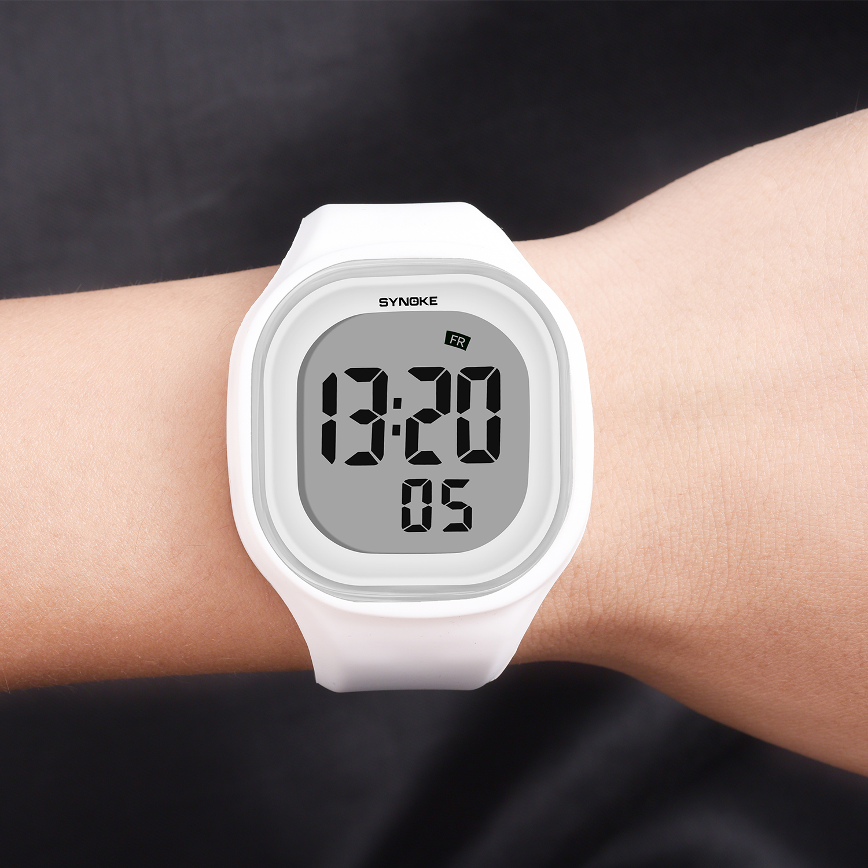 SYNOKE Men Digital Wrist Watches Sports LED Alarm Clock 50M Waterproof Timer Women Electronic Watch Relogio Masculino