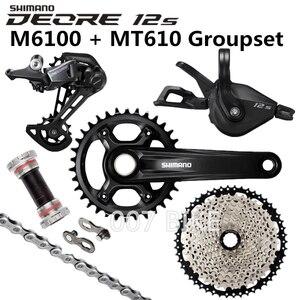 Image 4 - Shimano Deore M6100 Groepset 34T 32T Crankstel Mountainbike Groepset 1x12 Speed 10 51T 11 51T M6100 Groepset + MT610 Crank