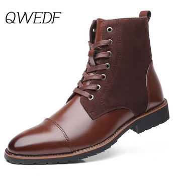 QWEDF Brand Ankle Boots Sneakers Men Casual Shoes Waterproof Snow Boots For Male Adult Winter Warm Short Plush Footwear Z2-31