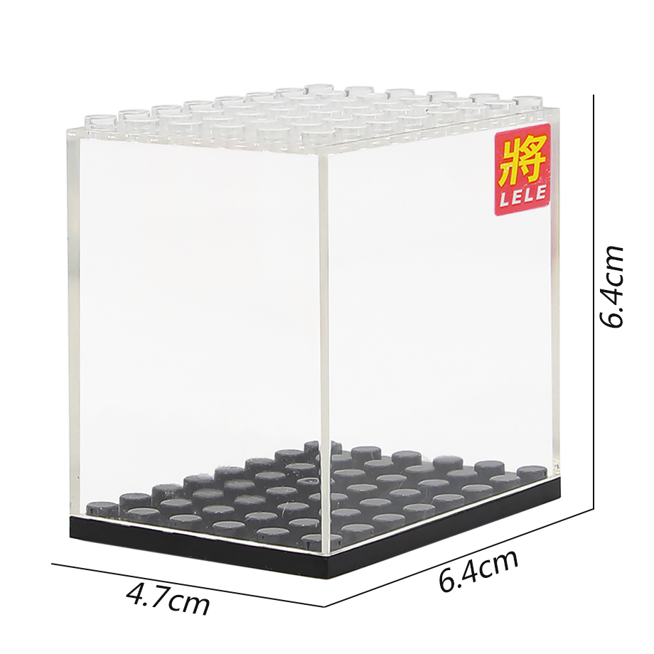6cm Legoinglys Height Single Sale Building Block Display Case Doll Figure Box Building Blocks Set Model Bricks Toys
