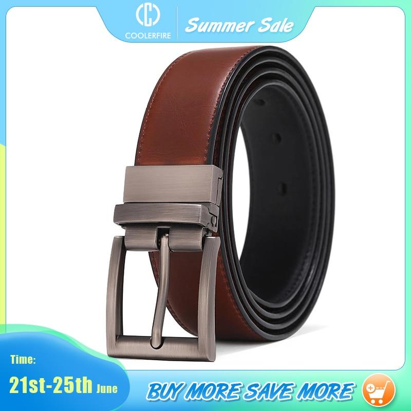 Men Reversible Casual High Quality Belt Man Genuine Leather Belt Male Strap Luxury Trouser Jeans Dress Belt For Men