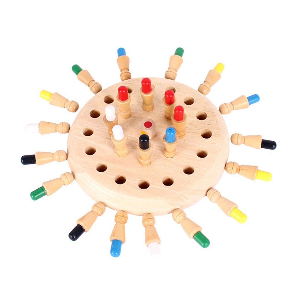 Jogo de xadrez da vara do jogo da memória crianças brinquedo de madeira do enigma do bebê cor educacional capacidade cognitiva festa de família brinquedos para crianças