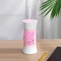 260Ml Home Car Purifier Atomizer Hollow Cup Aroma Diffuser USB Mini Air Humidifier Colorful LED Night Light with USB Small Fan|Humidifiers| |  -