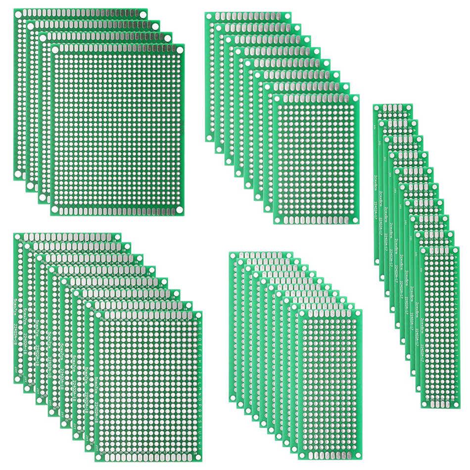 40pcs KIT Prototyping PCB Printed Circuit Board Prototype Breadboard Stripboards