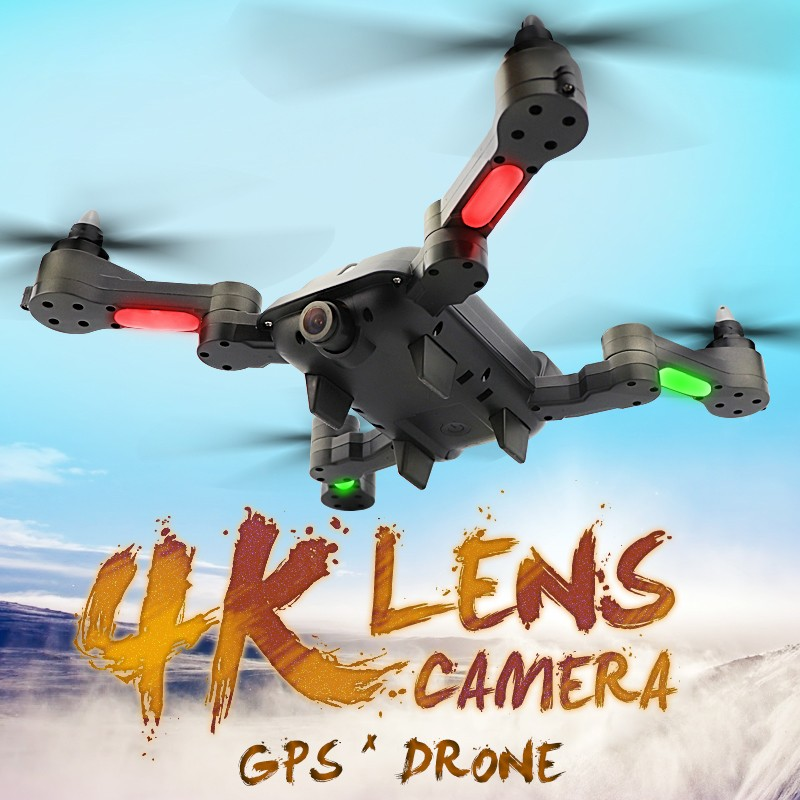 X-328 5G 4K Drone 4K HD Drone With Camera Quadcopter With 120-Degree Wide Angels Dual GPS One Key Takeoff Land Professional Fpv (Black)