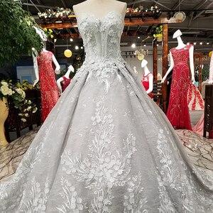 Image 3 - LS37811 сексуальное серое платье вечера возлюбленной без рукавов зашнуруйте вверх назад красивое платье партии низкое цена высокое качество быстрая перевозка груза