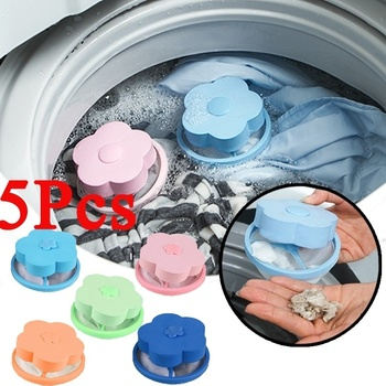 Reusable Laundry Lint Hair Catcher Household Home Floating Pet Fur Remover &