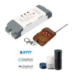 EWeLink 2CH Смарт Беспроводной модуль переключения для таймера с 433 МГц RF Управление; Комплект интеллектуальная беспроводная (Wi-Fi) Голос Управлен...