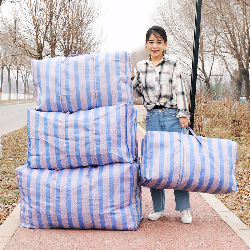 Extra Large Thickening Moving Package Snake Skin Sack Baggage Woven Bag Waterproof Cartoon Oxford Cloth Storage Sorting Bag 220L
