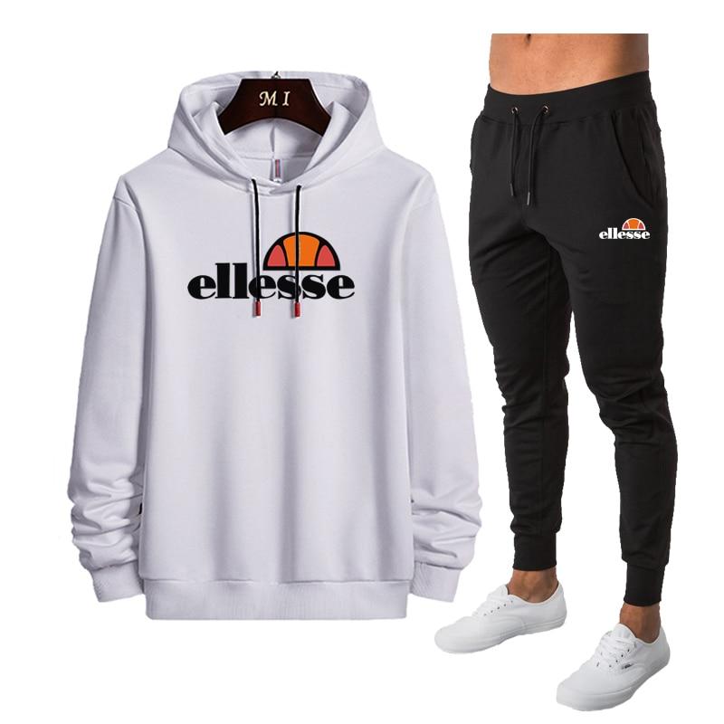Casual Tracksuit Men 2 Pieces Sets Hooded Sweatshirts Spring Men's Clothes Pullover Hoodies Pants Suit Ropa Hombre Plus Size
