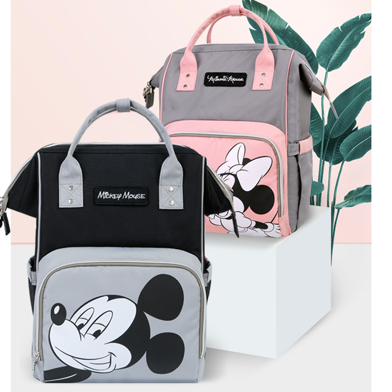 Disney Diaper Bags Large Capacity Mummy Maternity Nappy Bag Baby Travel Backpack For Mom Baby Care Diaper Bags  Mickey Mouse