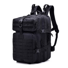 Black 45L Molle Tactical Backpacks 900D Military Assault Pack Outdoor 3P EDC CS Pack Hunting Trekking Backpack Rain Cover(China)