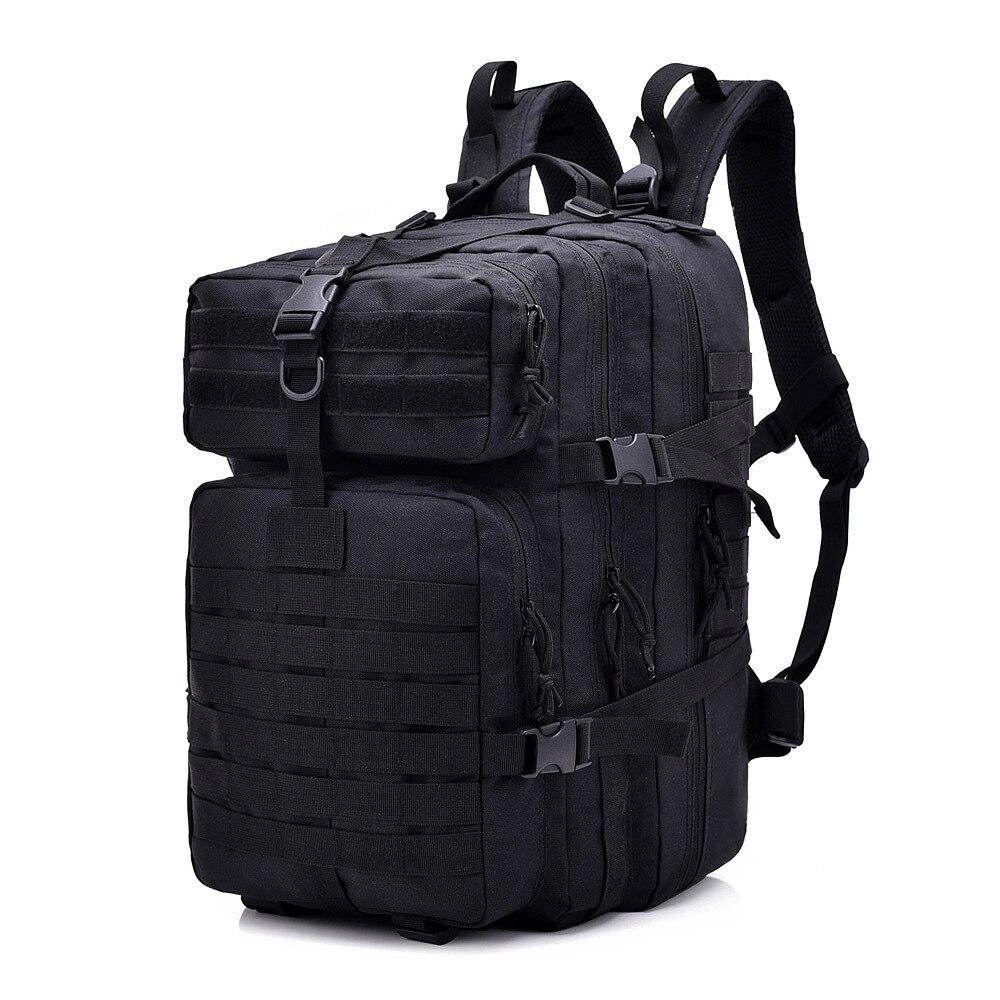Negro 45L táctico Molle mochilas para 900D militar mochila de Asalto al aire libre 3P EDC CS paquete caza Trekking mochila cubierta de la lluvia