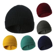 Unisex Men Women Winter Soft HIP HOP Knitting Wool Warm Beanie Hat Stretch Cuffed Skull Ski Crochet Slouch Cap